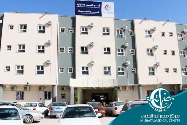 الاحصائية الشهرية لاقسام الاطفال بمركز مصراتة الطبي
